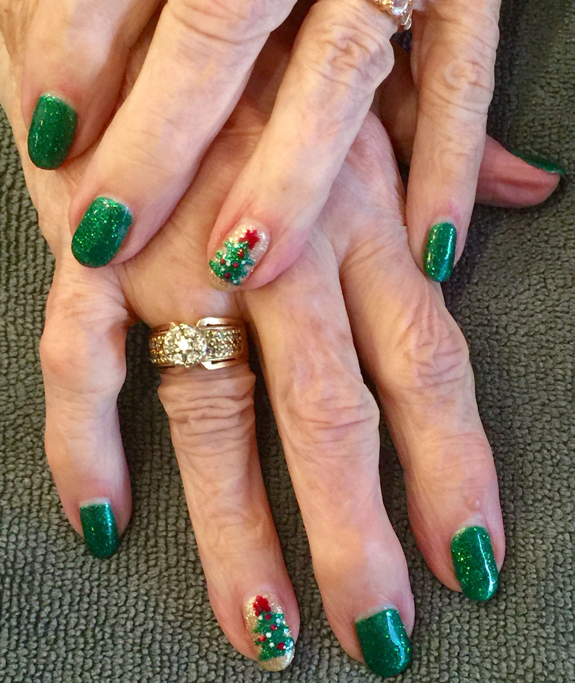 Love this festive gel manicure! 85 years young and still fancy ...