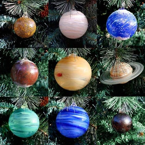 Celestial Glass Baubles Solar system, Solar and Ornament - solar christmas decorations