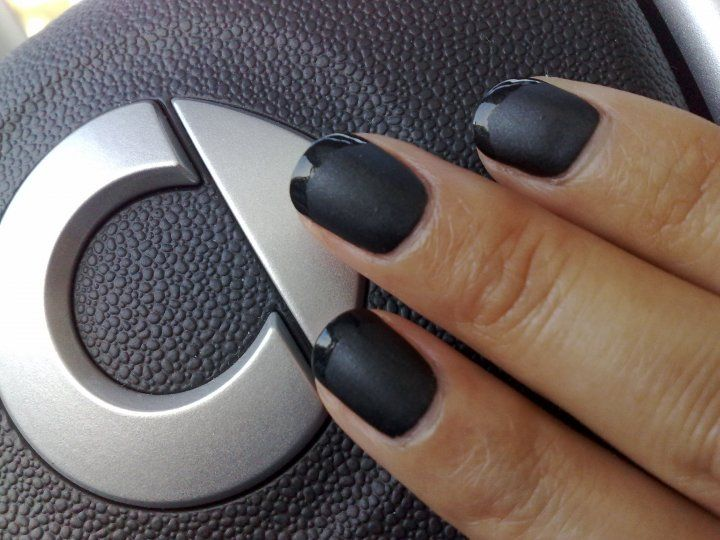 Matte is Murder with glossy tips engaging in road rage while behind ...