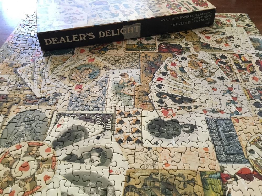 Vintage springbok jigsaw puzzle dealers delight complete antique vintage springbok jigsaw puzzle dealers delight complete antique playing cards gumiabroncs Images