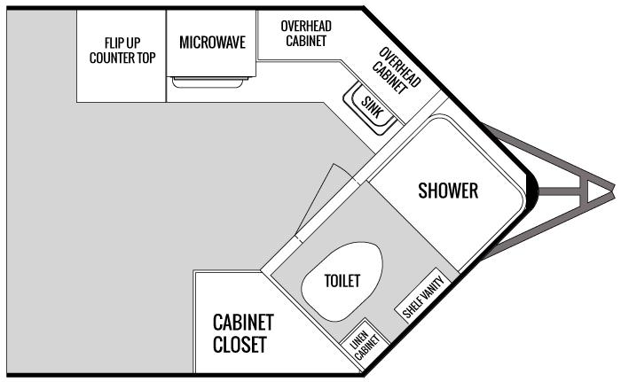 Enclosed Cargo Trailer With Bathroom Cargo Trailer Camper Cargo