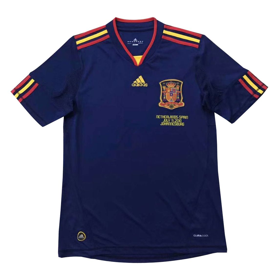 Spain 2010 Retro Away Soccer Jersey Shirt In 2020 Soccer Jersey Jersey Shirt Retro Football Shirts