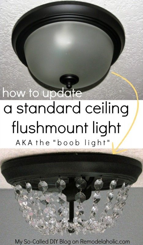 Bathroom Lights Make Me Look Ugly update a dome ceiling light with faceted crystals | crystal lights