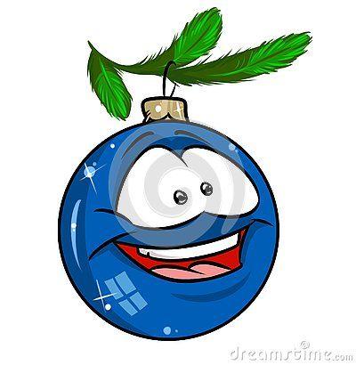 Christmas Blue Ball Christmas Tree Branch Cartoon Illustration Character Christmas Tree Branches Felt Christmas Tree Tree Branches