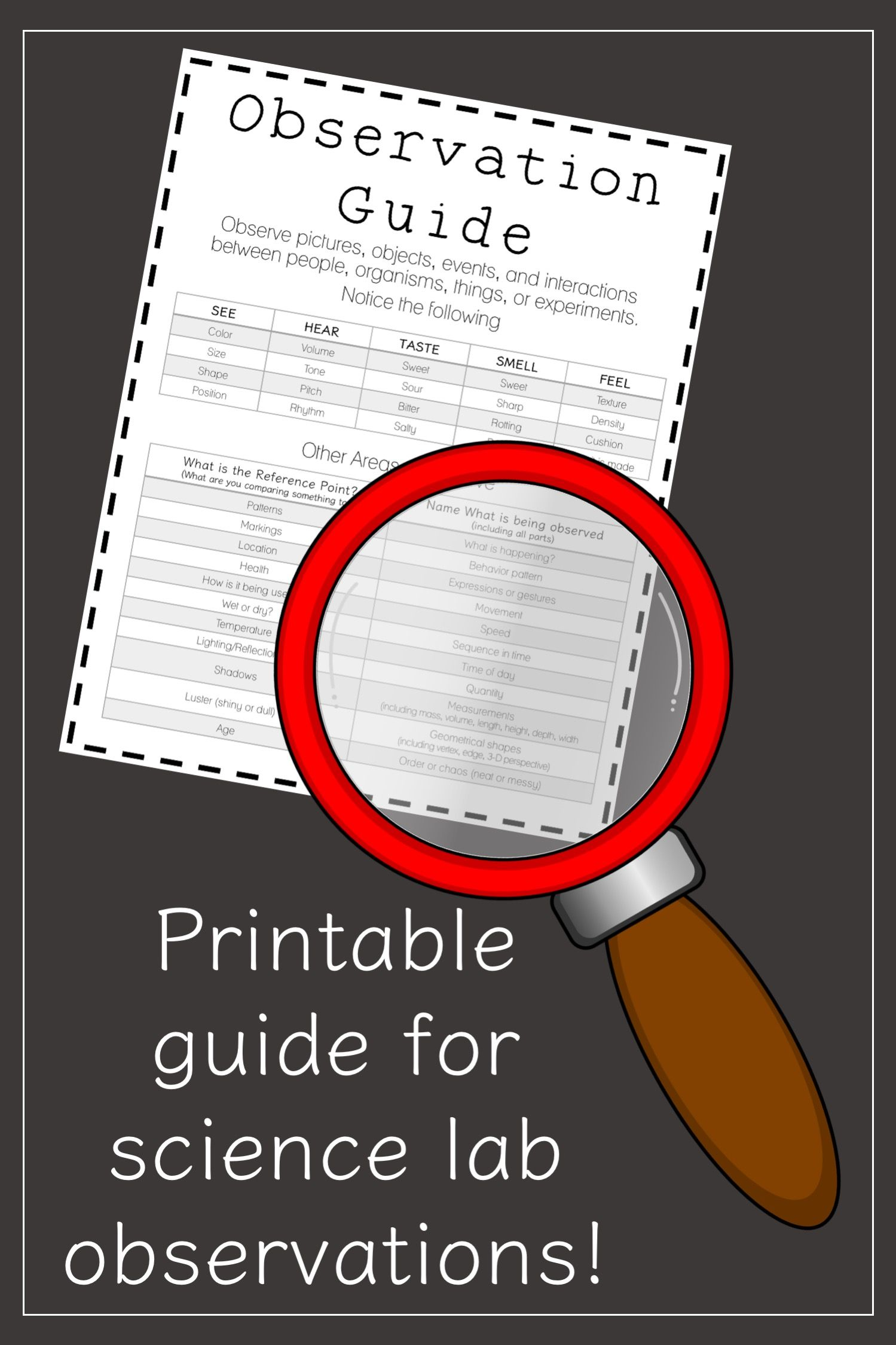 Science Inquiry Lab Observation Guide