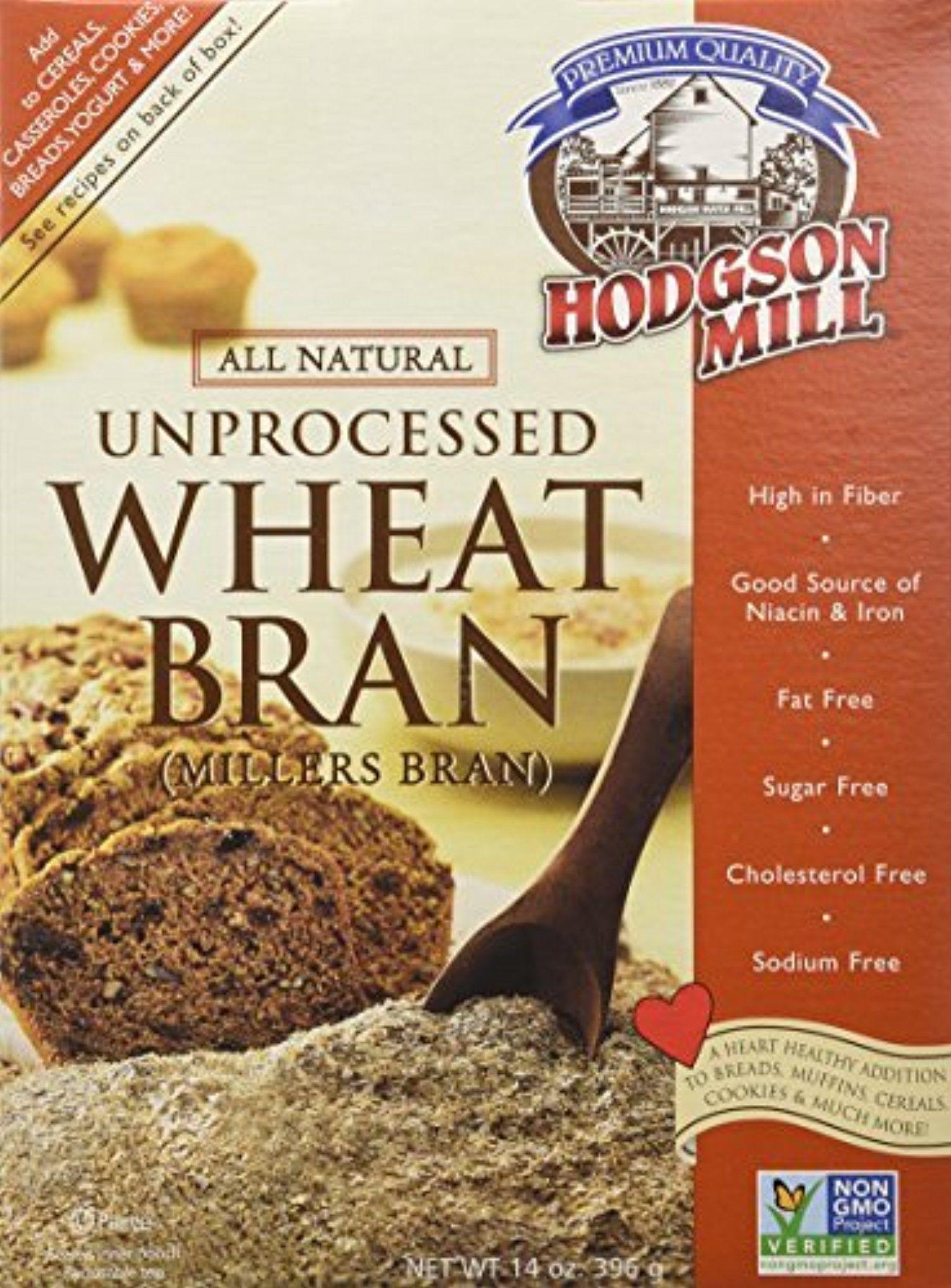 Hodgson Mill Wheat Bran, Unprocessed Millers Bran, 14-Ounce