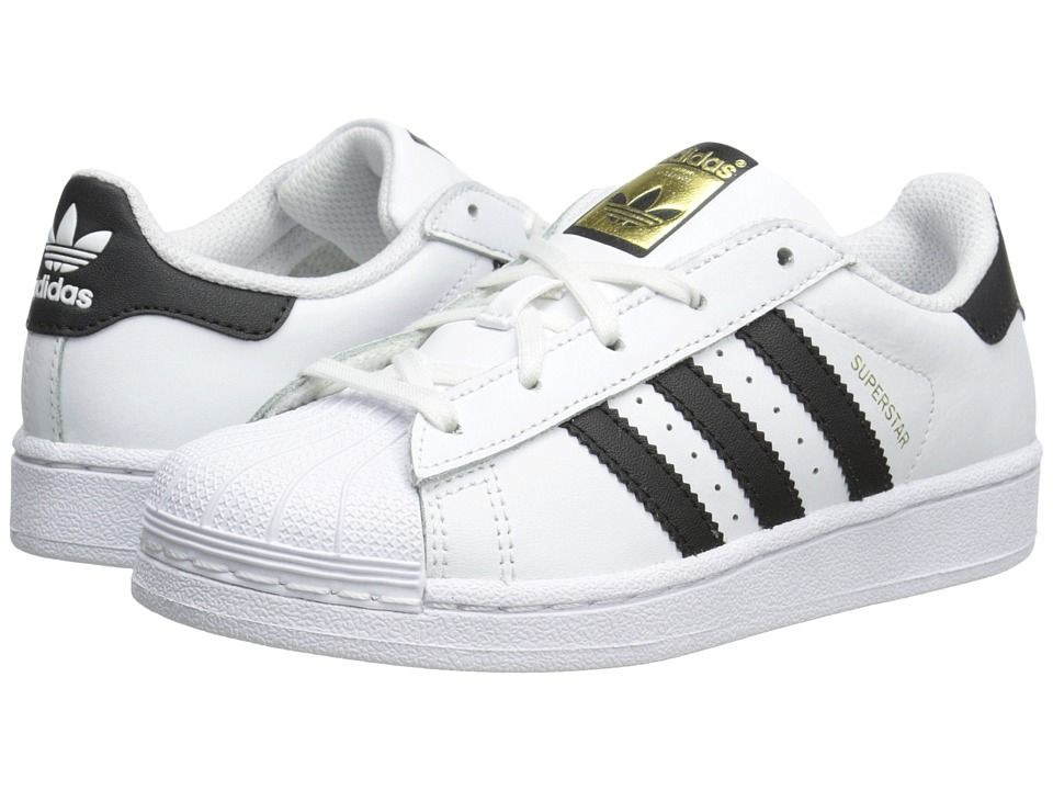 reputable site 83ee6 7d4b8 adidas Superstar C Foundation (Little Kid) Originals Kids Shoes  White Black White