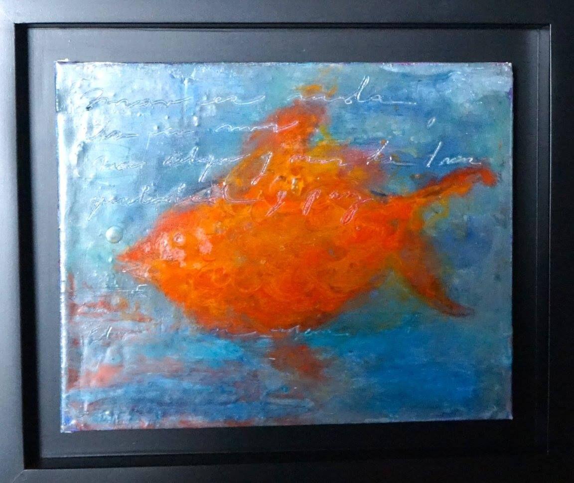 Artist : Lydia Hierro / Title : Bajo El Mar / Dimensions : 25 x 20 cms / Price : MXN $3,500 / Status : Available / Technique : / Year : 2015