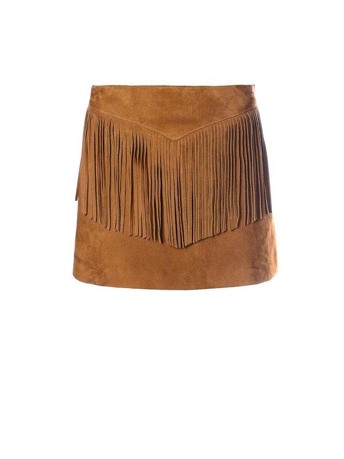 Fringed suede miniskirt Saint Laurent Sale Exclusive Outlet Largest Supplier oABt4