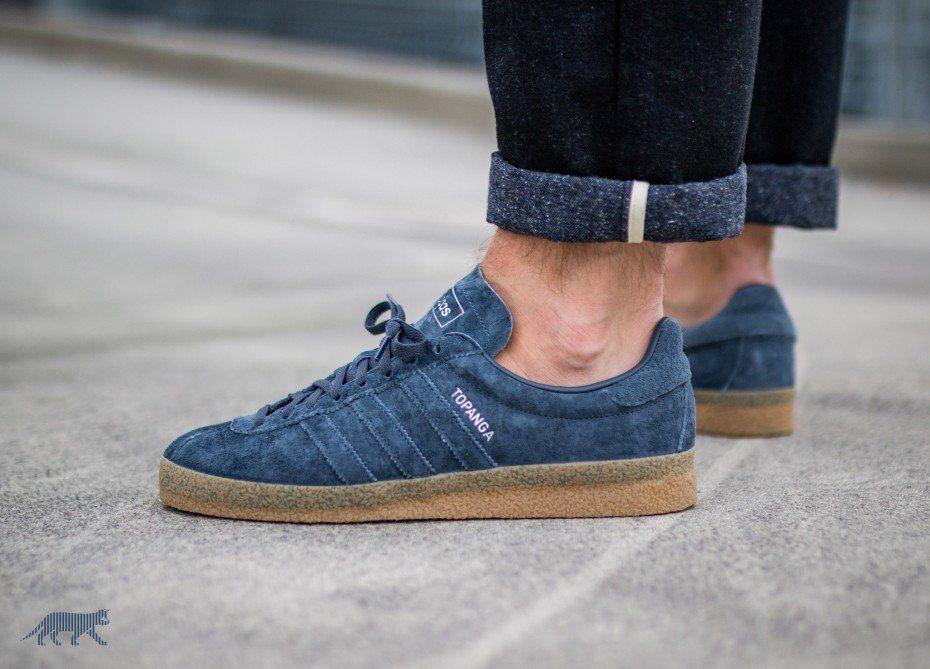 adidas Topanga (Utility Blue Utility Blue Gum) | shoes