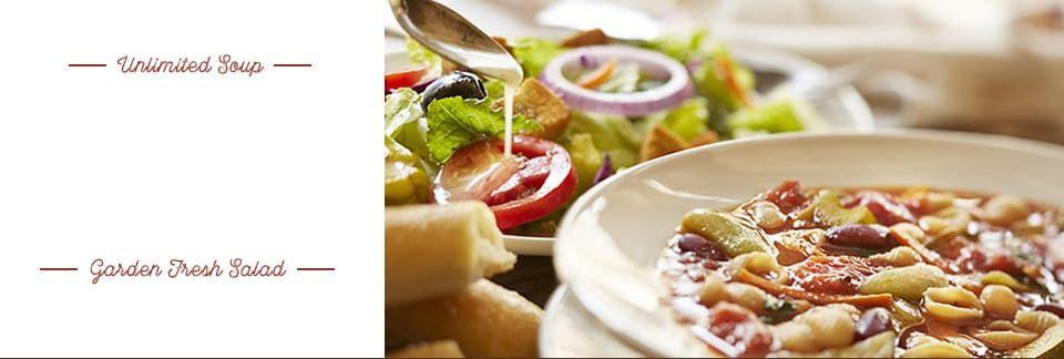 Start With Unlimited Soup Or Salad And Breadsticks Olive Garden Soups Diet Soup Recipes Olive Gardens Menu