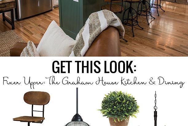 Get This Look: Fixer Upper Graham House Kitchen and Dining Room