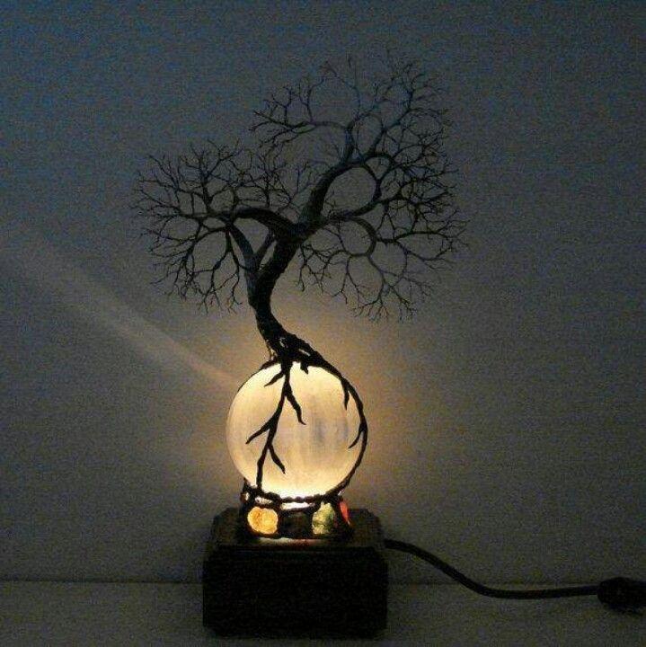 Cool Night Light Tree Lamp Wire Tree Lamp