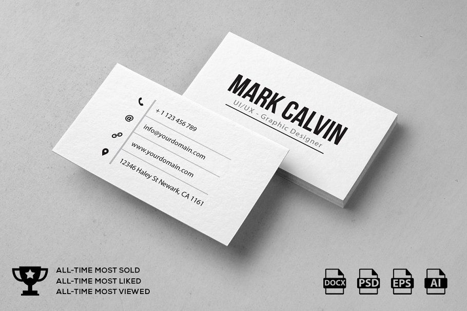 Simple Individual Business Card Individual Simple Business