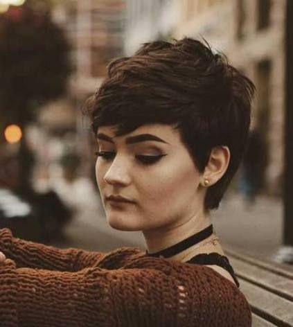 28 ideas hair brown short hairdos  pixie hairstyles