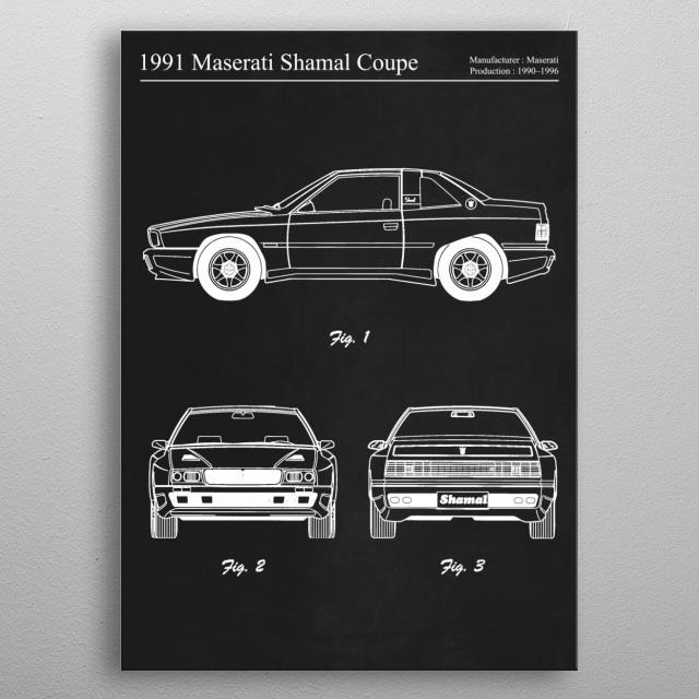 1991 Maserati Shamal Coupe by FARKI15 DESIGN | metal posters - Displate | Displate thumbnail