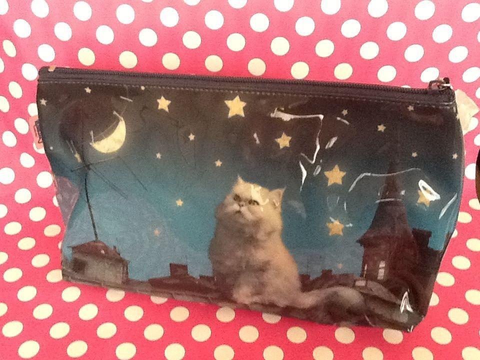 Catseye London Bag Rooftop Cat Moon Pouch Clutch Purse New Adorable Meow London Bags Clutch Purse Purses