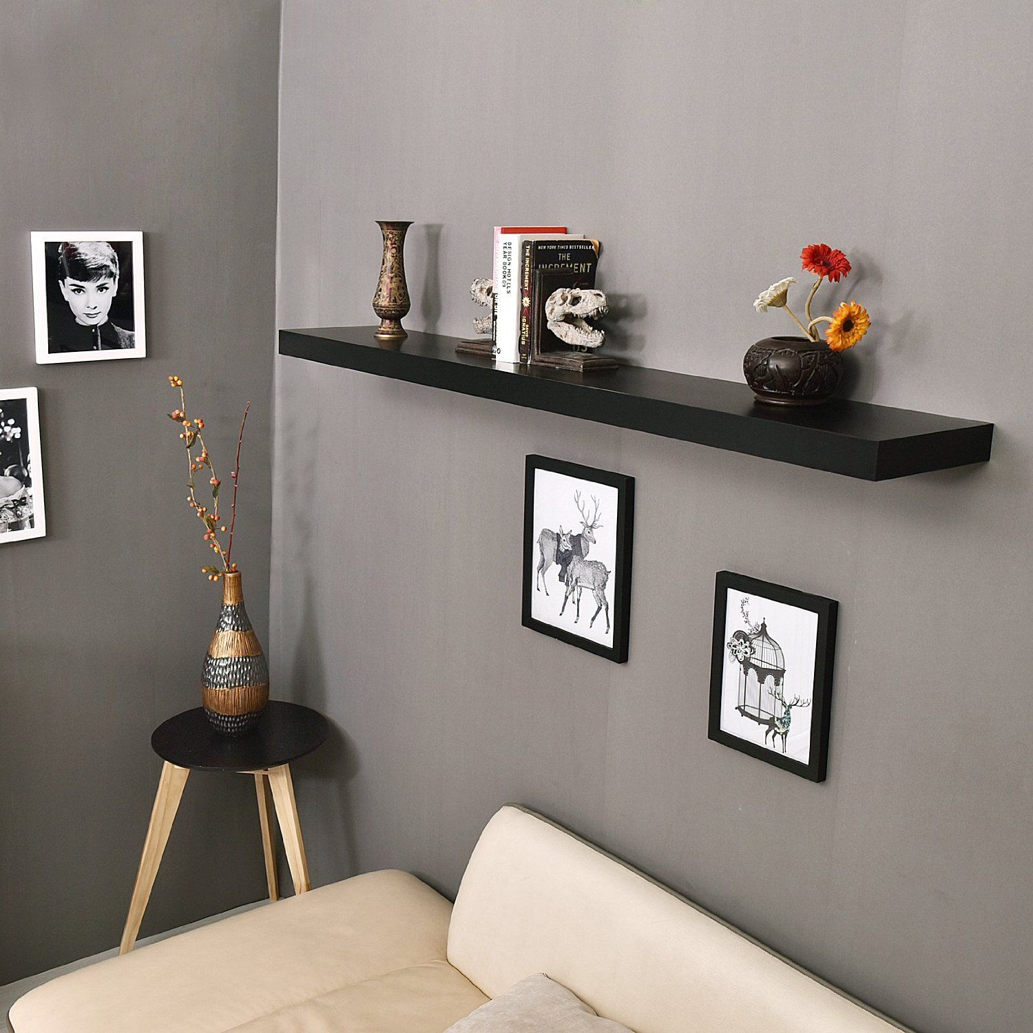 60 Inch Mission Floating Wall Shelf Mission Floating Shelf Refers To The 2 Thick X 9 25 Wide Floating Wa Wall Shelves Floating Wall Shelves Floating Shelves