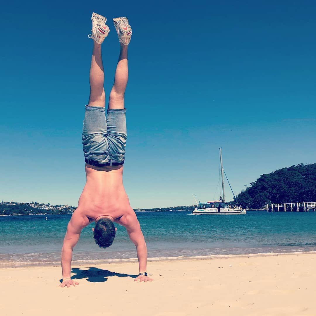 Keeping the #nikeairmax sand-free.  #handstand #yoga #calisthenics #fitness #gymnastics #workout #st...