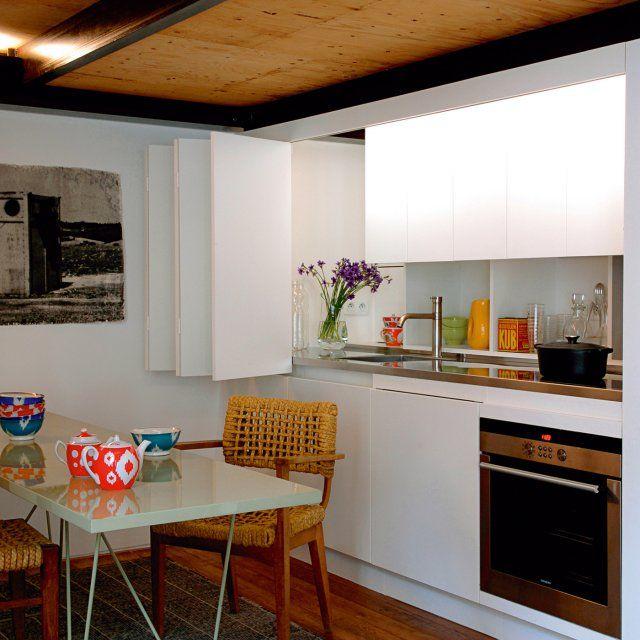 Un Appartement De 60 M2 Truffe D Idees Cuisine Minuscule Petite