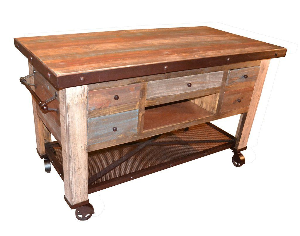 Merveilleux Bayshore Prep Table / Bar Table / Industrial Bar Cart / Reclaimed Wood  Kitchen Island   Distressed Painted Pine Wood With Hand Rubbed Protective  Finish That ...
