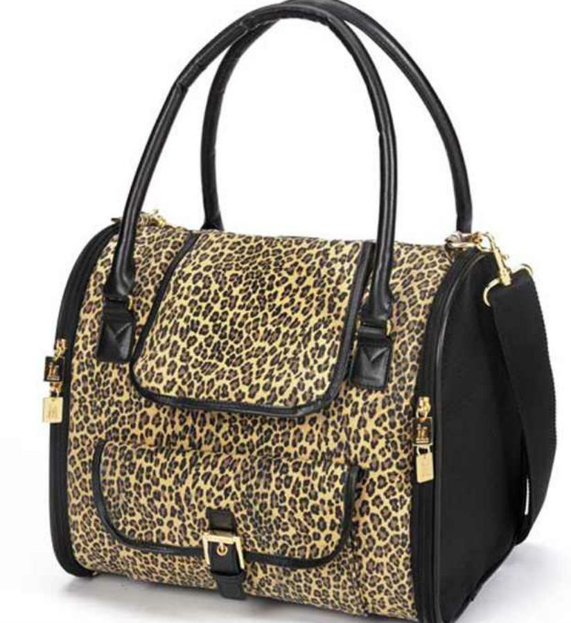 Dog carrier m. isaac mizrahi designer pet carrier leopard ...