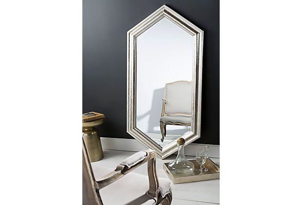 Diamond Floor Mirror, Champagne   Mirrors for All   One Kings Lane; 30 x 60.25