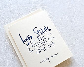 Il340x27055000085146fmg 340270 crafty hand lettering marilyn monroe quote card handmade greeting card thinking of you card typogaphic card ink blue and white card bookmarktalkfo Choice Image