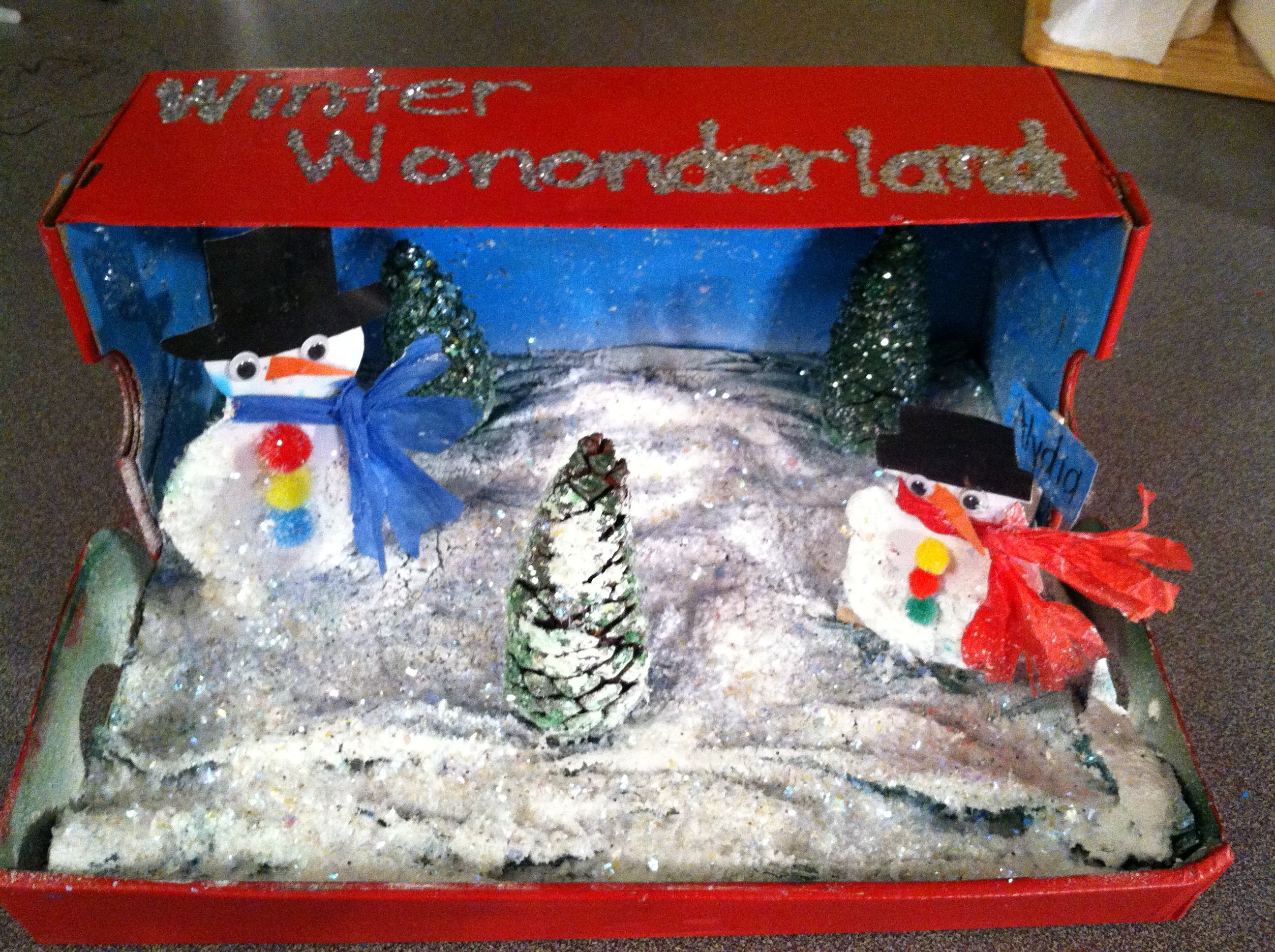 30 Shoe Box Craft Ideas: Shoe Box Craft ~winter Wonderland Created By My 6 Year Old