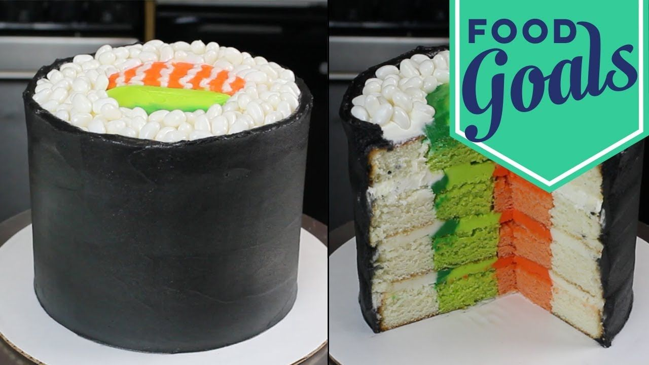 How to Make a Sushi Cake | Food Network #candysushi
