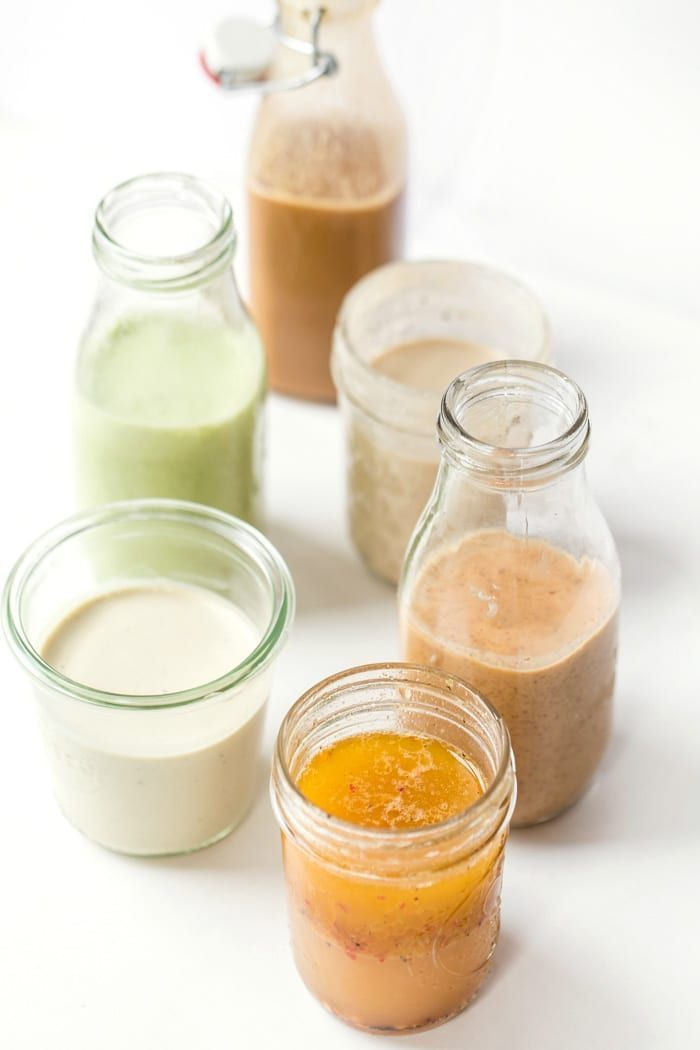 Staple Homemade Vegan Salad Dressings 6 staple VEGAN Salad Dressing that you can use for everything!6 staple VEGAN Salad Dressing that you can use for everything!