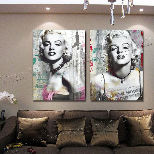 2 Panel Y Marilyn Monroe Oil Painting On