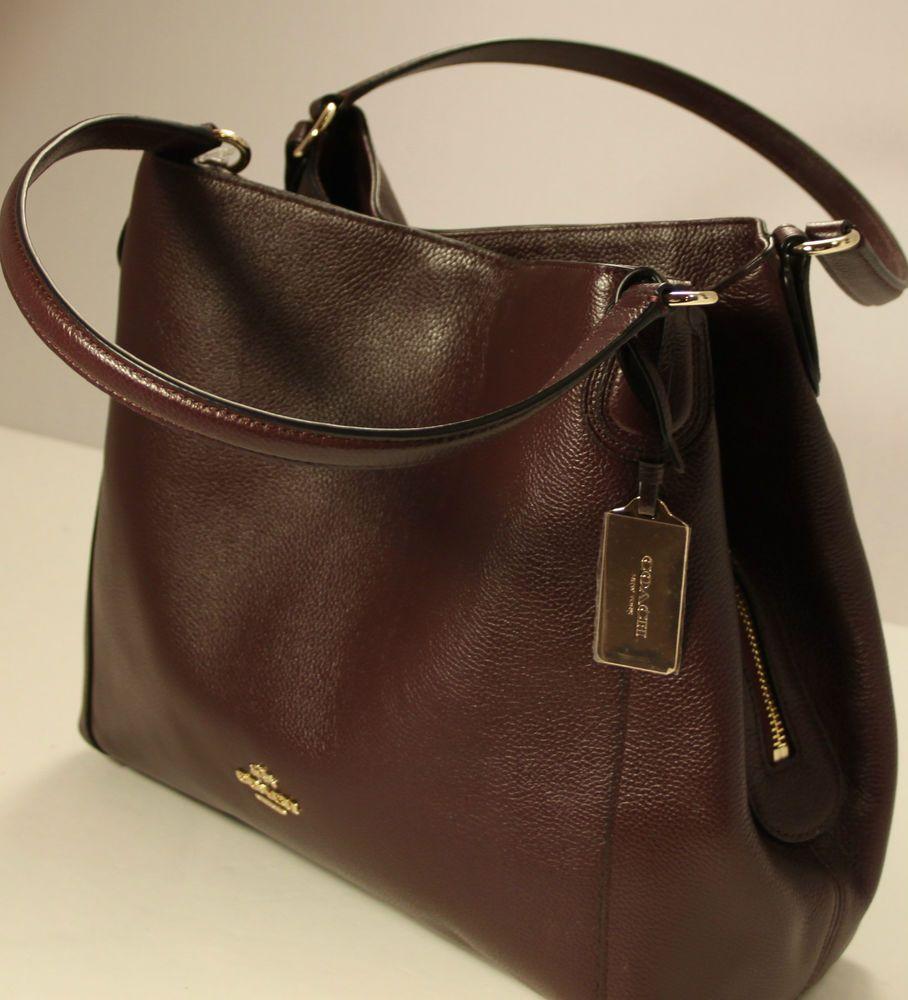 Nwt Coach E Refined Pebbled Leather Oxblood 36464 Satchel Shoulder Handbag Shoulderbag