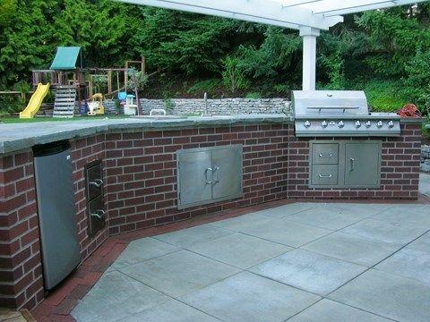 Outdoor Brick Kitchen Brick Outdoor Kitchen Outdoor Kitchen Island Outdoor Kitchen