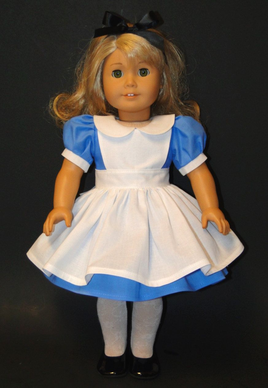 Alice In Wonderland Costume - Dress Pinafore and Headband - fits ...