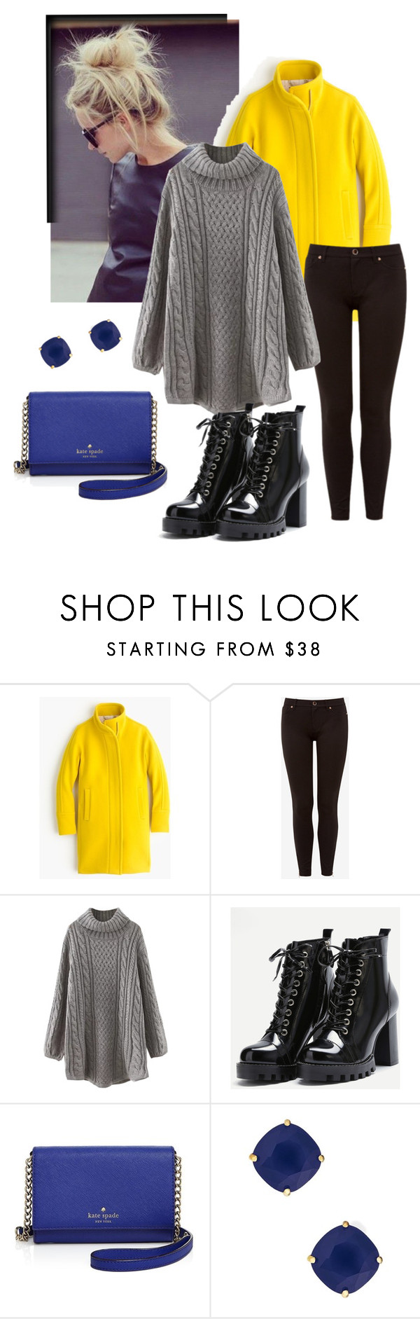 """Untitled #161"" by mia-s2 on Polyvore featuring J.Crew, Ted Baker, WithChic and Kate Spade"