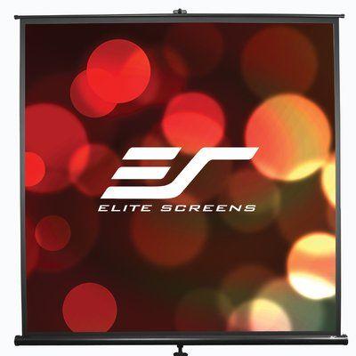 Elite Screens Tripod Series White 92 Diagonal Portable Projection Screen