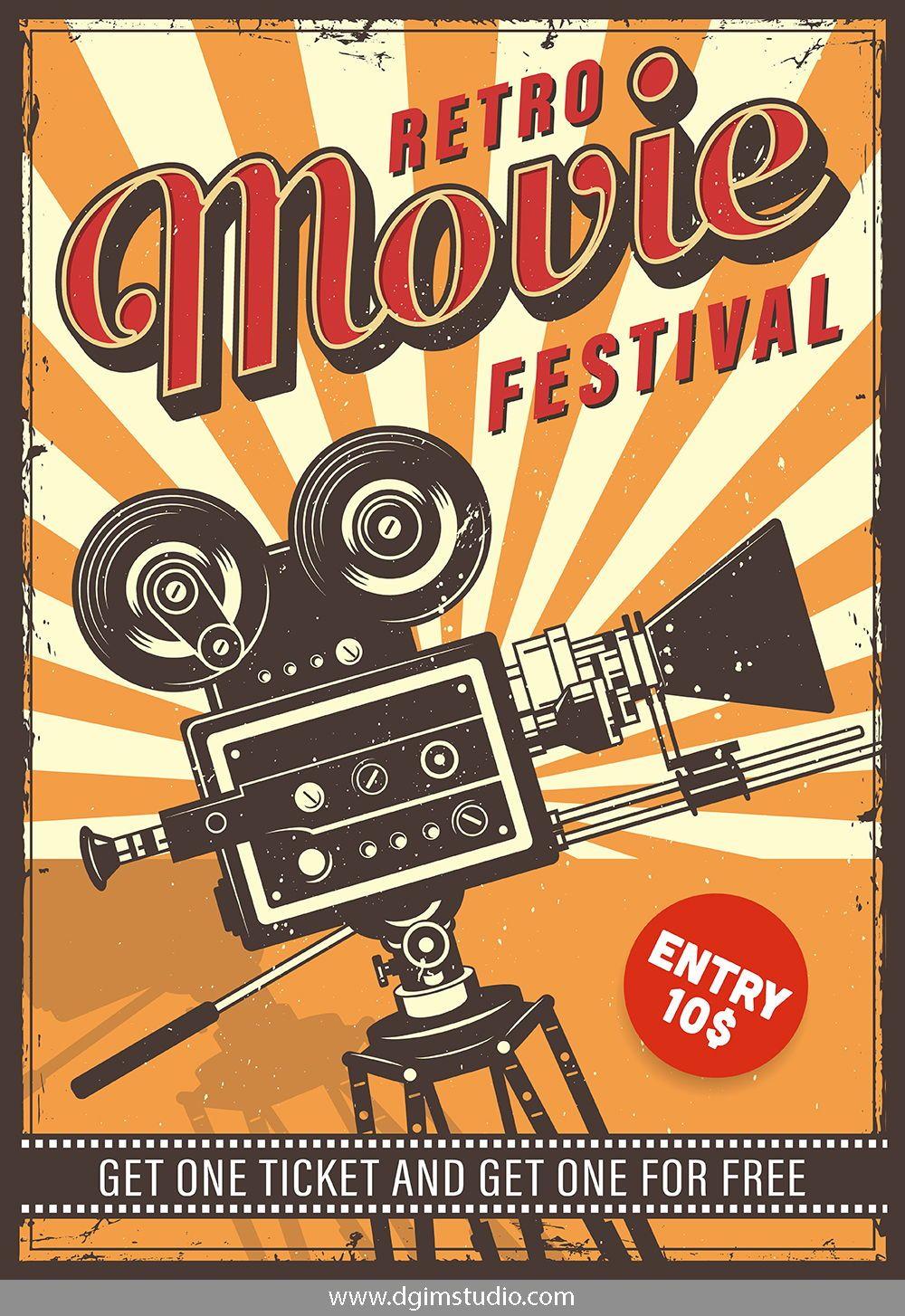 12 Cinema Posters Vintage Poster Design Retro Poster Vintage Posters