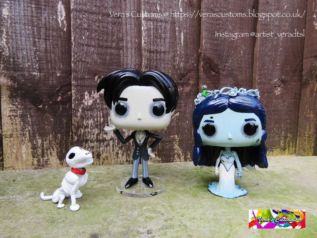My latest completed customs The Corpse Bride set. Follow me on Instagram and Like my page on Facebook for more updates on customs/giveaways/contests. #timburton #thecorpsebride #johnnydepp #victorvandort #scraps #funkoart #customfunko #custom #custompop #customvinyl #customfunkopop #funko #funkopop #funkopopvinyl #pop #popvinyl #funkofanatic #funkofunatic #toycollection #collection #collectibles #funkoaddiction #funkouk #funkomania #funkoaddict #funkocollection #funkocommunity #funkofamily #funk