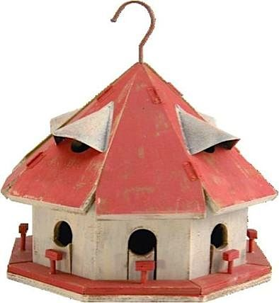 Rustic Red Roof Motel Birdhouse