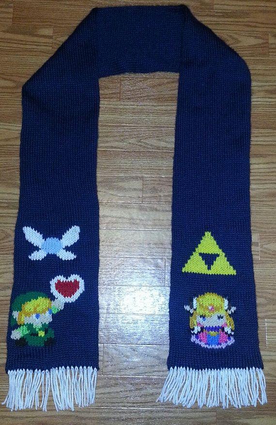 Legend of Zelda Scarf. $65.00, via Etsy.