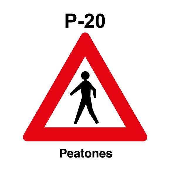 Señal de circulación P20 Peligro Peatones | Aparcamiento ...