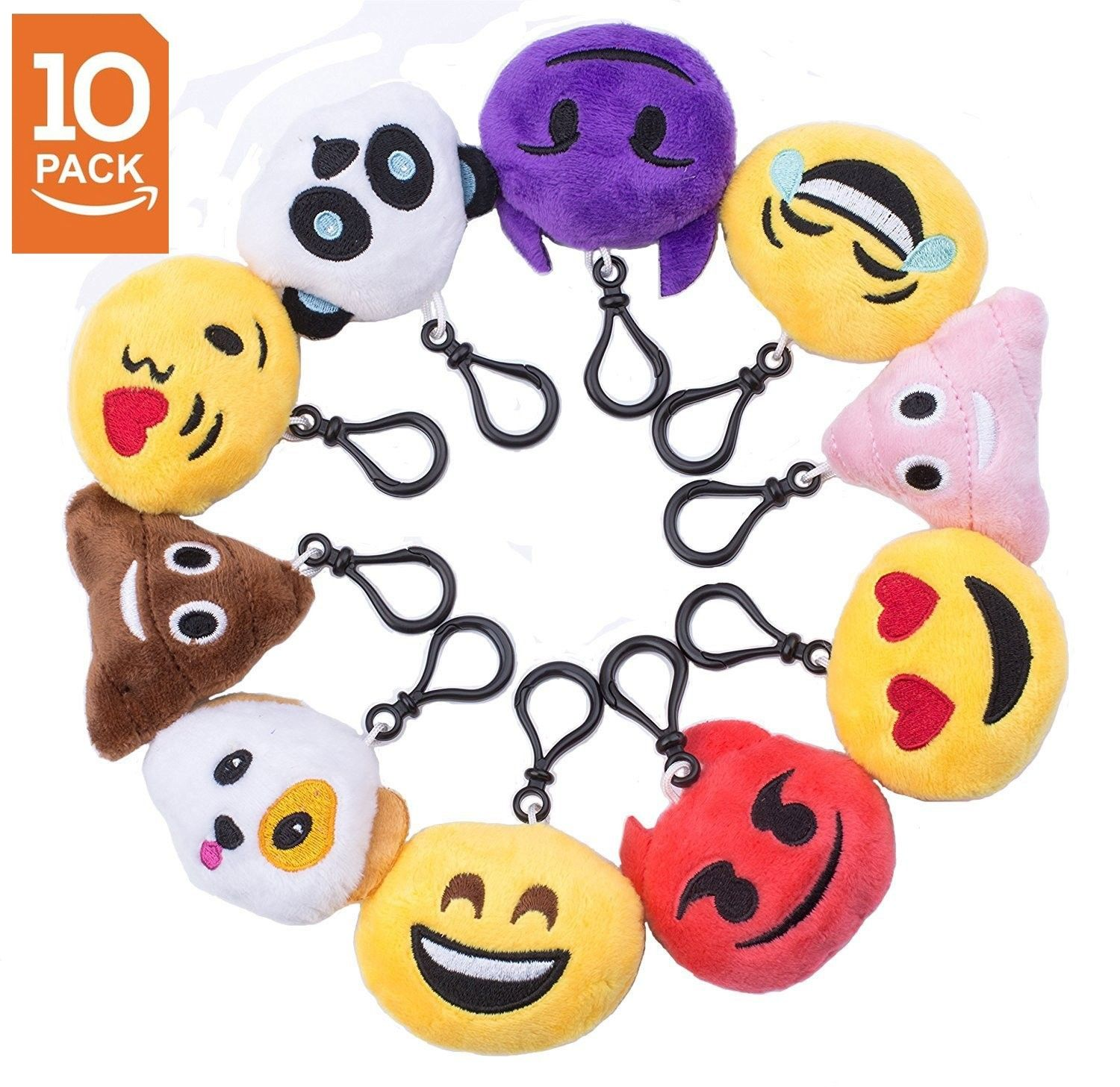 e0336ec3e03 Emoji Cute Plush Pillows Little Emoji Faces Great Birthday Party Favors -  Kids Party Supplies - Pack of 10(2 inch) - 10 Pack - C517AAO7NL0 - Event    Party ...