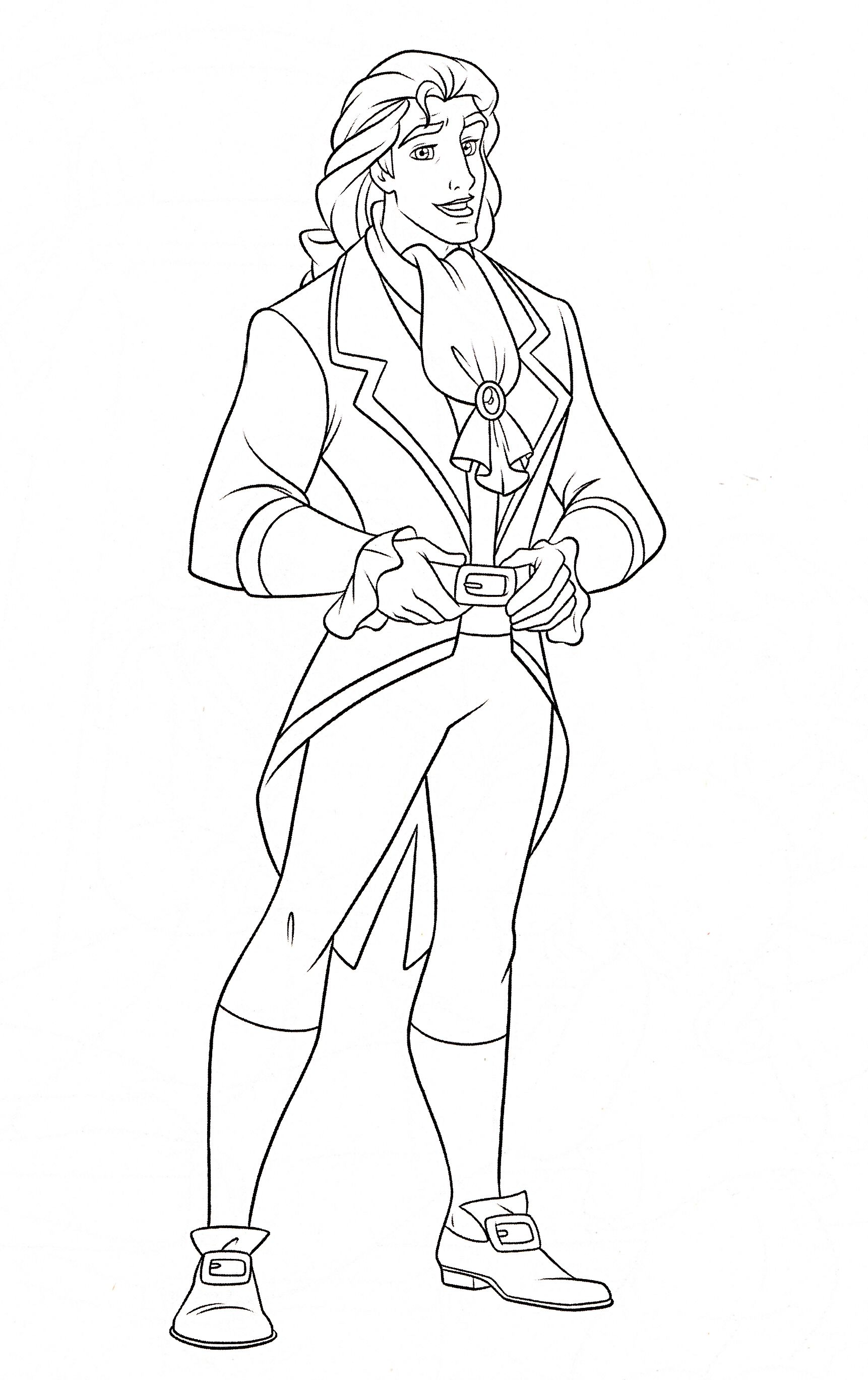 Free coloring pages beauty and the beast - Disney Beauty And The Beast Coloring Page