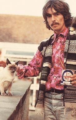 George with cat