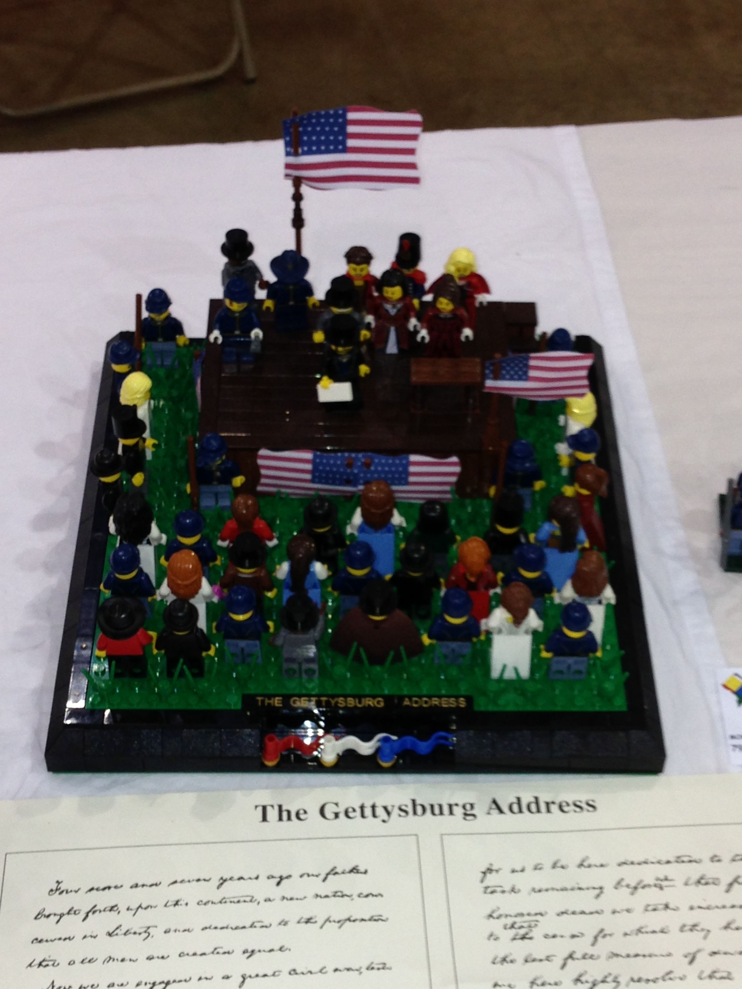 Lego Version Of The Gettysburg Address By Abraham Lincoln