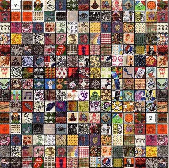 Classic vintage sampler large blotter art perforated for Classic acid