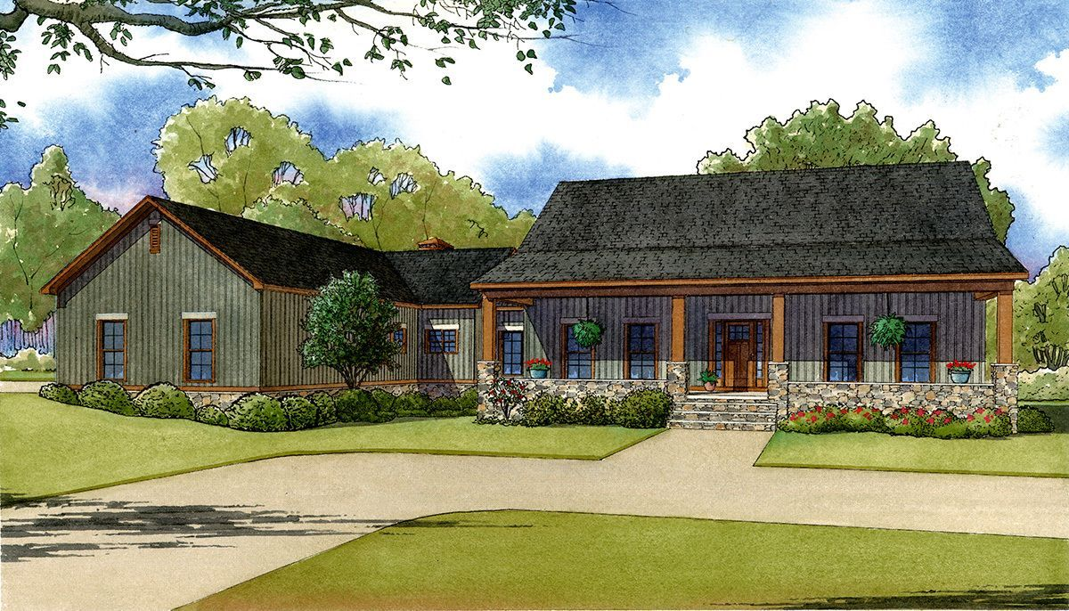 bed country home plan with porches mk interior