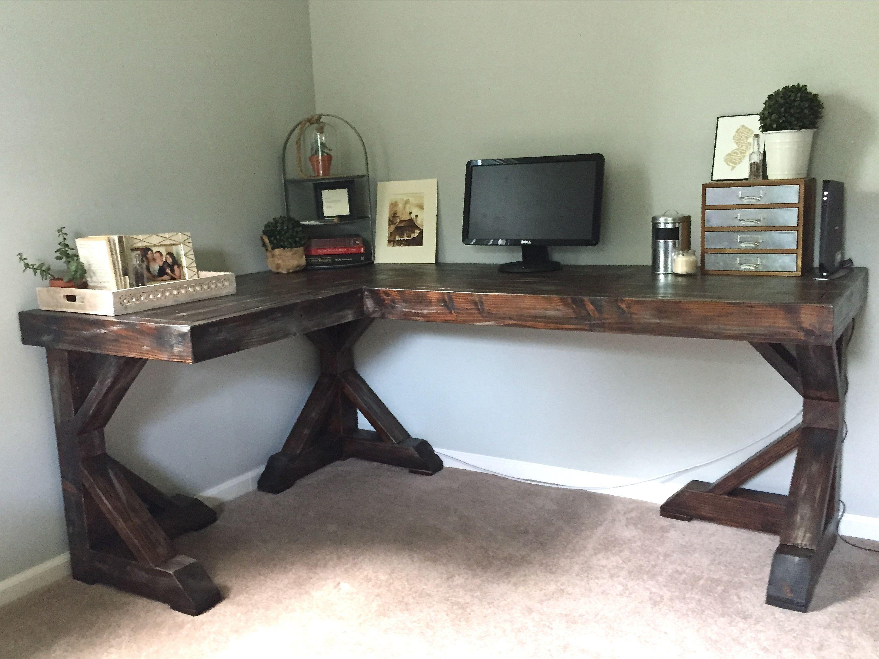 Home Office:Diy Corner Desk U2013 Little Home Happiness Within Diy Corner Desks  Diy Corner