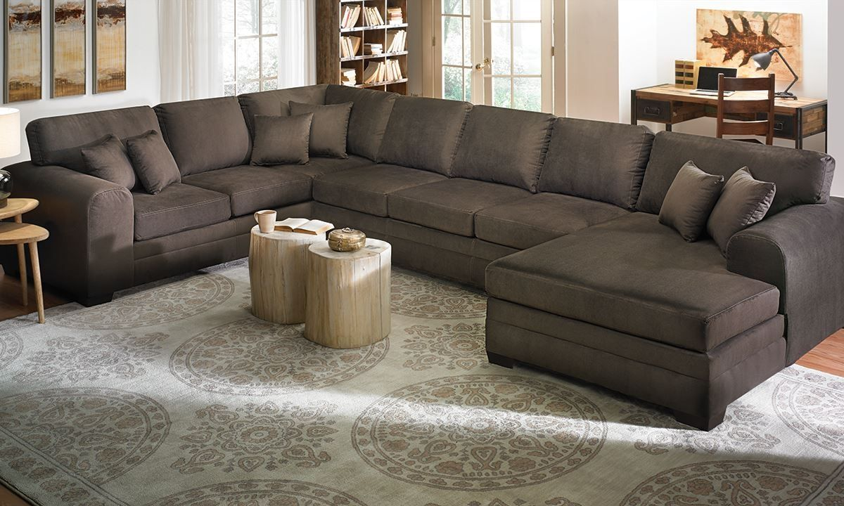 Oversized Sectional Sofa With Chaise | http://ml2r.com | Pinterest